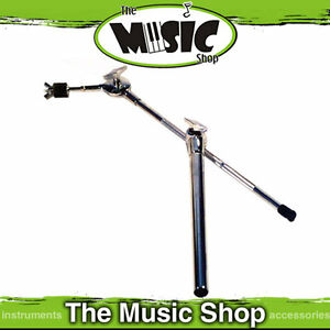 Chrome Cymbal Boom Arm & Post for Drum Rack - New Cymbal Stand