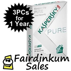 Kaspersky PURE Total 3pc Internet Security & Antivirus 2012 Sealed Retail Box