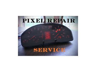 AUDI A4 S4 A6 ALLROAD CLUSTER CENTRAL LCD MISSING PIXELS REPAIR SERVICE