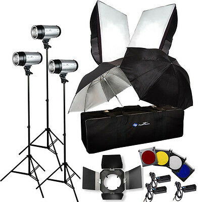 750W STROBE STUDIO FLASH LIGHT KIT LIGHTING PHOTOGRAPHY on Rummage