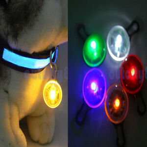 Lot-Wholesale-Safety-Night-Light-Circular-Pendant-Keychain-Puppy-Pet-LED-Tag