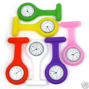 Silicone-Gel-Nurse-Brooch-Pendant-Pocket-Watch-Choose-Your-Color