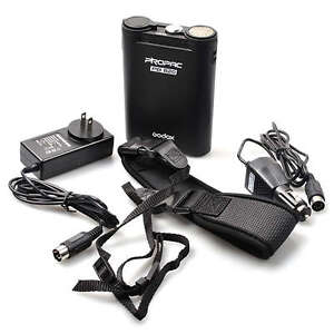 BLACK Godox PB820 External Flash Power Battery Pack for Canon Nikon Sony Camera