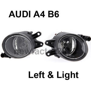 PAIR AUDI A4 B6 8E SEDAN FRONT DRIVING FOG LIGHT LAMP LEFT&RIGHT 2002-20005 NEW