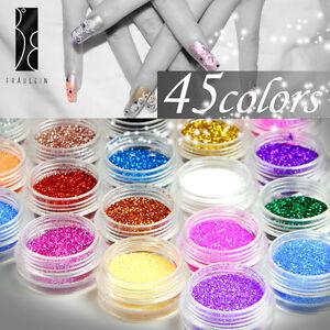Set-de-48-Color-Glitter-Purpurina-Polvo-Brillante-Decoracon-para-Arte-de-Unas
