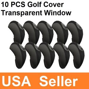 10PCS-Golf-Club-Iron-Window-Head-Cover-Brand-NEW-Golf-cover-Iron-Protector-USA
