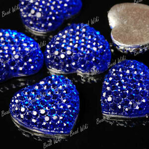 15pcs-Resin-Blue-Vintage-Flatback-Style-Heart-Love-Cabochon-Bead-16x16mm-RB0509