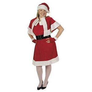 Santa Helper Mrs Claus Dress Costume Adult Plus 16-20
