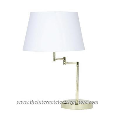 Armada 1x60w Double Swing Arm Table Lamp Polished Brass Oaks Lighting 722 Tl Pb