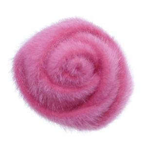 broche pince cheveux bibi mariage c r monie soir e fleur rose fushia velours ebay. Black Bedroom Furniture Sets. Home Design Ideas