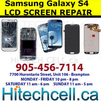 Samsung Galaxy S4,S3 Note 2, 3 screen repair done while you wait