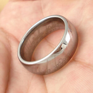 Nice-LOTR-Tungsten-Carbide-Silver-Color-Band-Wedding-Ring-Width-8mm-Multi-size