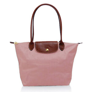 LONGCHAMP-Le-Pliage-2605-LONG-HANDLE-TOTE-MEDIUM-PINK-BRAND-NEW-e291