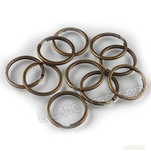 10x-Antique-Bronze-Split-Rings-Fit-Keychain-30mm-160363