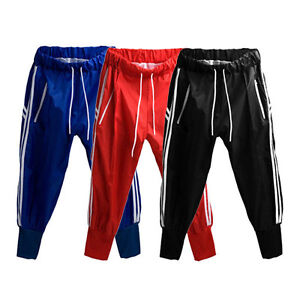 Mens-Casual-Sport-Dance-Trousers-Training-Jogging-Cropped-Pants-Shorts-S0578
