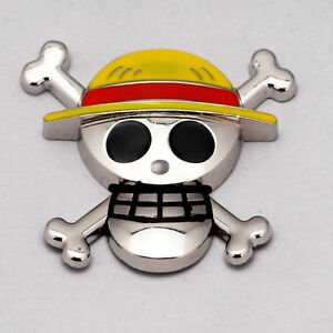 car chrome luffy one piece 3d skull emblem badge truck auto motor sticker decals ebay. Black Bedroom Furniture Sets. Home Design Ideas