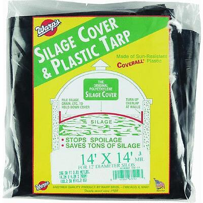 14' X 14' 3 Mil. Black Plastic Silage Cover For Silos Warp Bros. Ssc-14