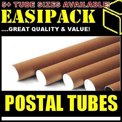 5 x A2 Postal Cardboard Poster Tubes 44.5 x 450mm (1.75