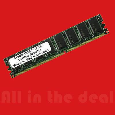 512mb Pc2700 Pc-2700 Ddr 333 Mhz 184-pin Low Density Desktop Memory