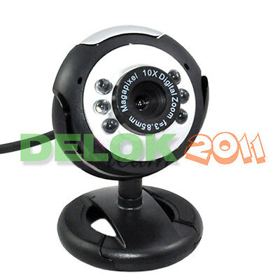 USB 36.0M 6 LED Webcam Camera Web Cam With Mic for Desktop PC Laptop on Rummage