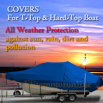 Sportsman Masters 227 Bay Center Console T-top Hard-top Fishing Boat Cover Blue