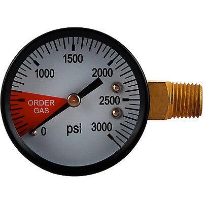 Replacement Gauge 0-3000 Left Hand Thread - Draft Beer Regulator Air Tank Gauge