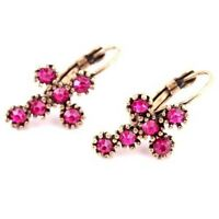 Vintage&Antique Crystal Resin Flower/Cross Shape Stud Earring