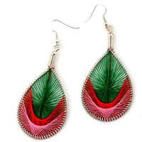 Fashionable Artistic Handmade Oblong Sassy Earrings--new