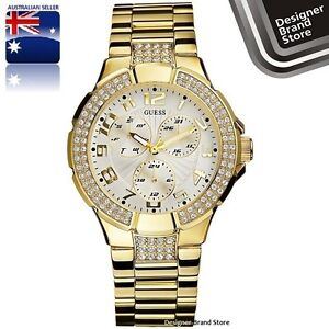 NEW GUESS LADIES WATCH GOLD PRISM SWAROVSKI G13537L I16540L1 - EXPRESS MELBOURNE