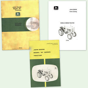FULL SET JOHN DEERE M TRACTOR SHOP SERVICE PARTS OWNERS OPERATOR MANUALS CATALOG