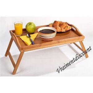plateau petit dejeuner en bambou sur pieds t l lit neuf ebay. Black Bedroom Furniture Sets. Home Design Ideas