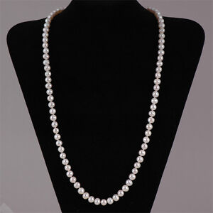 High Lustre Freshwater Pearl Necklace -Sterling Silver Clasp 18'' 20'' 25'' 30''