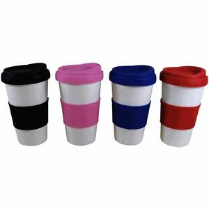 Ceramic Coffee Travel Mug With Silicone Lid