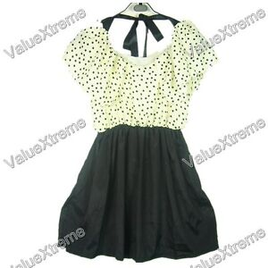 Japan Korea Top Fashion Women New Gift Dots Polka Pleated Lady Dress