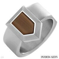 MEN DYRBERG/KERN ORIGINAL SIZE 9.5 or 12.5 RING WITH BROWN INLAY