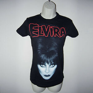 New-Horror-80s-Gothic-Goth-Punk-Kreepsville-666-Elvira-Pin-Up-Girl-Black-T-Shirt