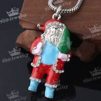 Crystal Glass Enamel Christmas Santa Claus Bead Pendant-NEW!!