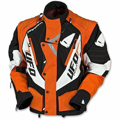 NEW UFO 2015 MOTOCROSS ENDURO JACKET ORANGE LARGE 4370
