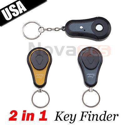2 in 1 Remote Wireless Key Wallet Finder Receiver Lost Thing Alarm Locator Track