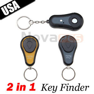 2 in 1 Alarm Remote Wireless Key Finder Seeker Locator Find Lost Keys 2 Receiver