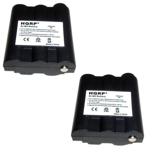 2x HQRP Batteries for MIDLAND GXT-1000 GXT-1050 VP4 Two-Way Radio BATT5R
