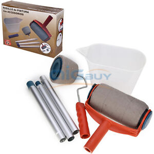 pro easy paint roller system roller fill eazy magic painting point poles runner ebay. Black Bedroom Furniture Sets. Home Design Ideas