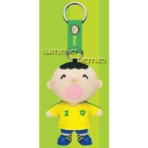 Sanrio minna no tabo 2010 World Cup Plush Keychain - #2 Brazil
