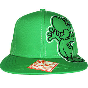 Official-Nintendo-YOSHI-Super-Mario-Bros-Snapback-Hat-Adjustable-Baseball-Cap