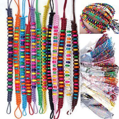 20pcs 12colors Wholesale Lots Beads Braid Handmade Fashion Friendship Bracelets on Rummage