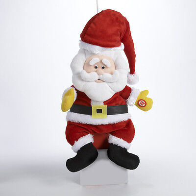 Plush Santa Claus Animated Rolling Laughing Christmas Toy In Box Lots Of Fun