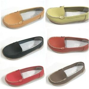 8-Colors-Women-Leather-Soft-Comfortable-Nurses-Shoes-Single-Shoes-Flats