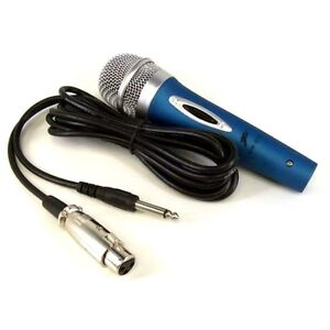 TWO PROFESSIONAL DYNAMIC UNIDIRECTIONAL MICROPHONES DJ & TWO XLR 10' CABLE WIRES