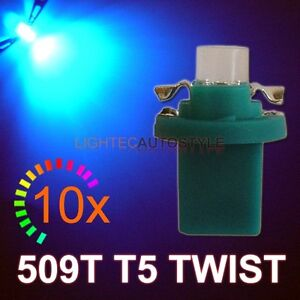10x-BLUE-509T-T5-TWIST-LOCK-509-T-LED-DASH-BULBS-UK