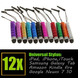 12x Touch Stylus Pen For iphone 5 4s 4 3G/S iPad 3 2 Mini ipod Touch Samusng HTC